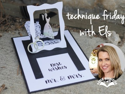 Mr. & Mrs. Hanging Charm Pull Tab | Technique Friday with Els AND Karen