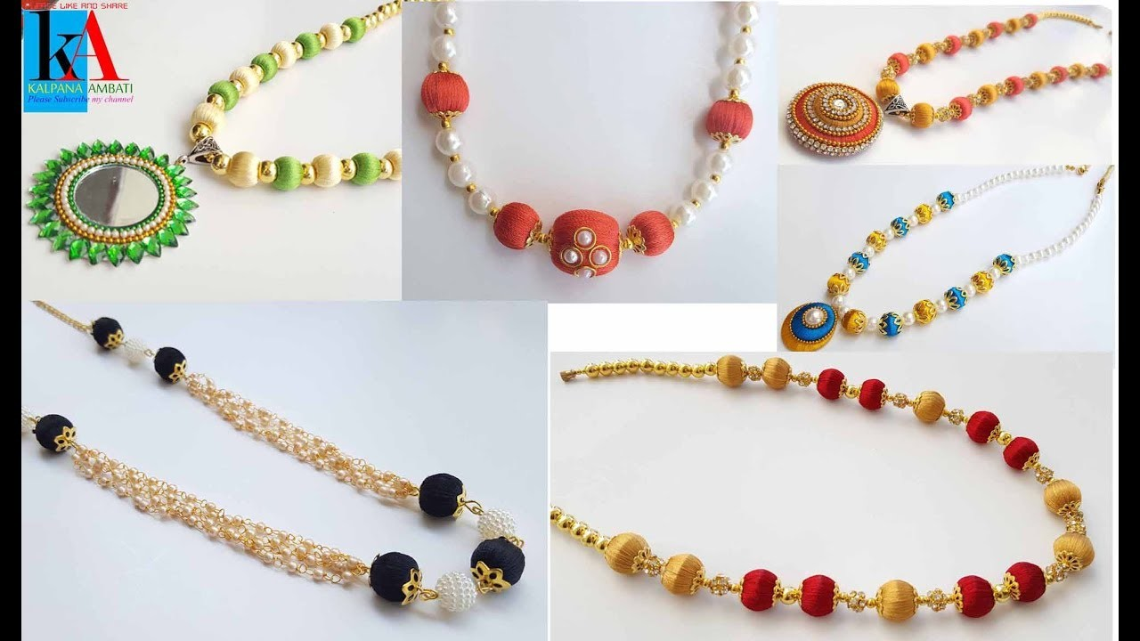 My top 5 latest Silk thread necklace collection