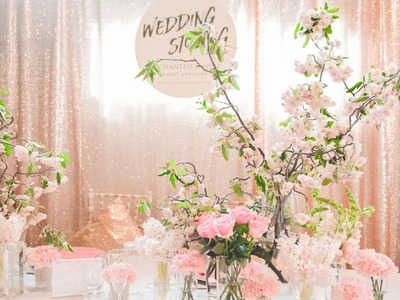 Rose Gold and Blossom Wedding, styled by Enchanted Empire
