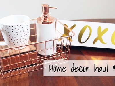Rose Gold. Copper Collective Home Decor Haul! Vday 2017 | Homegoods, Marshalls, Target, Walmart!