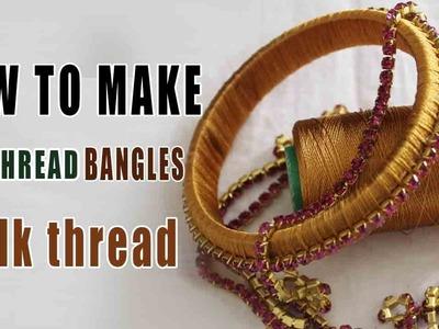 SILK THREAD  bangle making at home | Latest thread best  bangles | zooltv