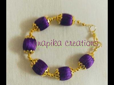 Silk thread bracelet easy way in home