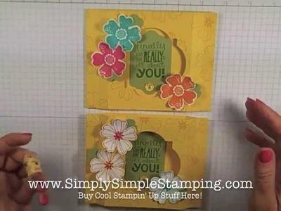 Simply Simple FLASH CARD 2.0 - Flower Shop Shadow Box Card by Connie Stewart