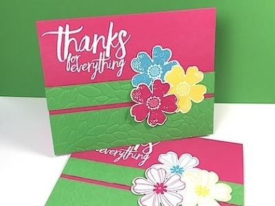 Simply Simple FLASH CARD 2.0 - Thanks for Everything Card by Connie Stewart