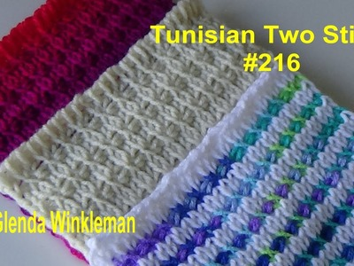 Stitch of the Week Tunisian Two Stitch #216 (FREE PATTERN at the end of video)