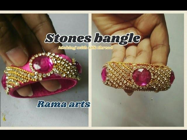 Stone bangle - How to make stone bangle | jewellery tutorials