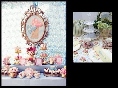 Tea Party Ideas - Table Decorations Idea