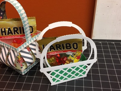 Tiny slat basket and a die cut basket