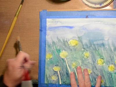 Watercolor Techniques, Glue and Salt