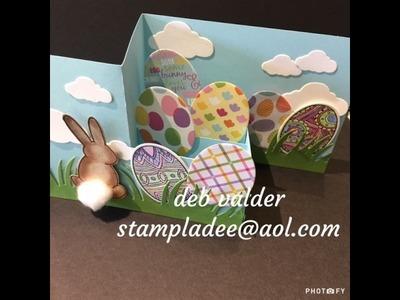 Z Fold Bunny Bum Pop Up Box Card with Deb Valder