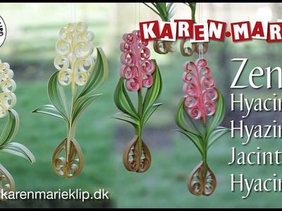 Zen Quilling Hyacinth. Hyazinthe. Jacinthe. Hyacint - Karen Marie Klip & Papir