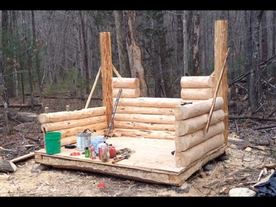 10' x 8' Log Cabin Episode 9 - The Walls (Part 3)
