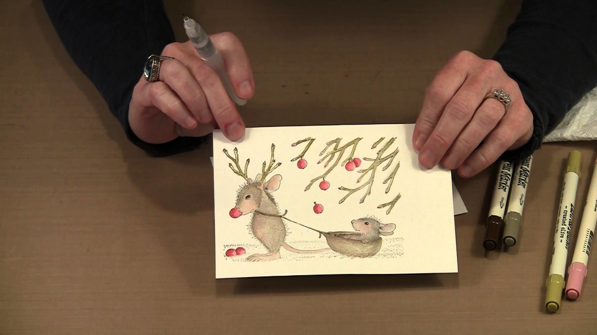 2013 Holiday Cards With House Mouse by Joggles.com