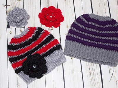 5 Point Star Messy Bun Hat in youth to small adult