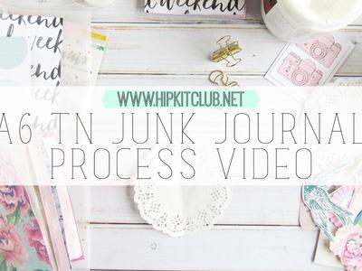 A6 traveler's notebook junk journal process video | hip kit club