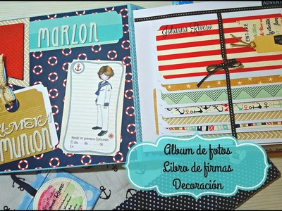 Album de Fotos Scrap para Comunión  Decorando 2 da parte