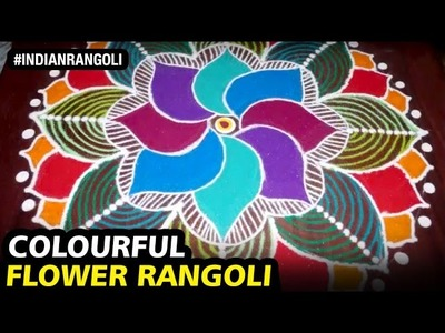 Amazing and Colourful FLOWER Rangoli at Home | Best Designs EVER! | Indian Rangoli