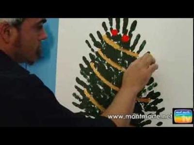 Art Lesson: Mont Marte Joe's Hand Print Christmas Tree Lesson using Acrylic Paint