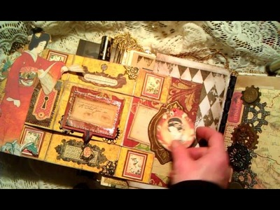 Asian. Chinese Steampunk Travel Junk Journal with Graphic 45 Bird Song paper