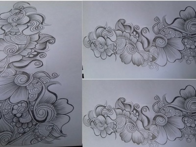 Beautiful Flower Mehndi Design with Pencil on Paper| Mehndi Designing Tutorial