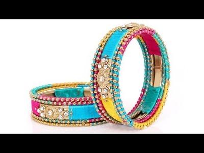 Beautiful Multi Colour Silk Thread Bangle Designs