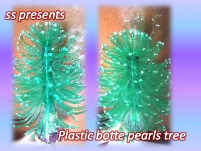 Best out of the waste.Plastic bottle pearls show piece.bottle pearls tree