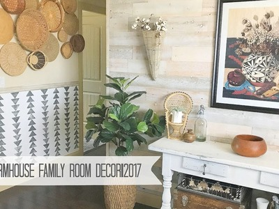 BoHo Farmhouse Family Room Decor