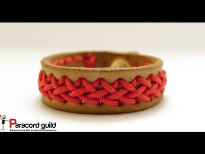 Center braided bracelet- leather and paracord
