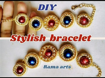 Colorful bracelet - making with silk thread | jewellery tutorials