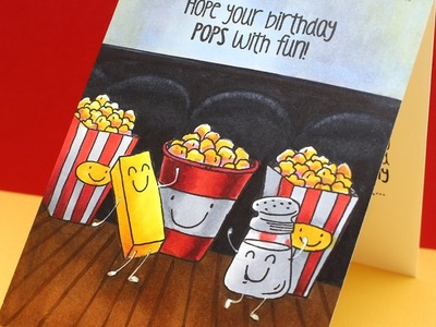 Copic Color a Movie Theater Card