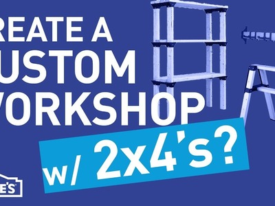 Create a Custom Workshop w. 2x4's | DIY Basics