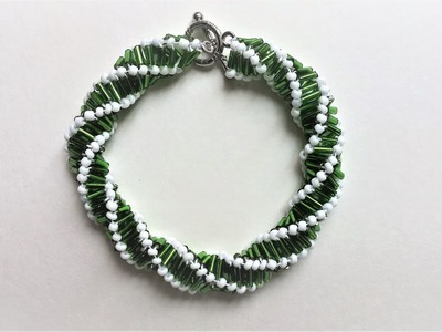 Create a spiral bracelet pattern that is perfect for necklaces or bracelets.