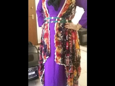 Cutting and stticing abaya or long maxi dress tutorial.in bangla