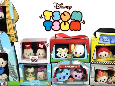 Disney Tsum Tsum - January 2017 -  Mickey Mouse and Friends Countries Collection and Valentine's Day