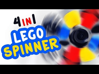DIY 4 in 1 Fidget Spinner with Lego Compatible