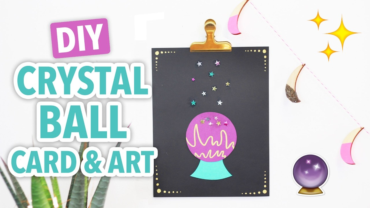 DIY Crystal Ball Card & Art - HGTV Handmade