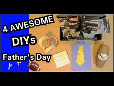 DIY Dollar Tree: 4 AWESOME Father's Day DIYs | Best Gifts 4 Dad | Gifts for Men || Chanelle Novosey