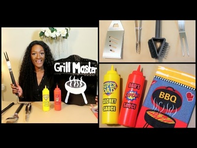 DIY Dollar Tree: Father's Day Gifts | ♨ Grill Master Sign | Gifts for Dad | Chanelle Novosey