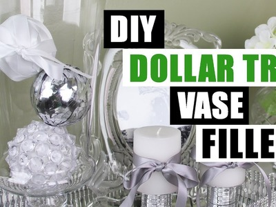 DIY DOLLAR TREE GLAM VASE FILLER Dollar Store DIY Glam Bowl Filler Decorative Balls Glam Decor