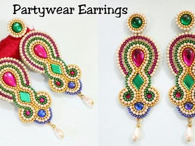 DIY.How To Make Designer Paper Earrings at Home   Paper Earrings   Fancy Earrings   Paper Jewellery