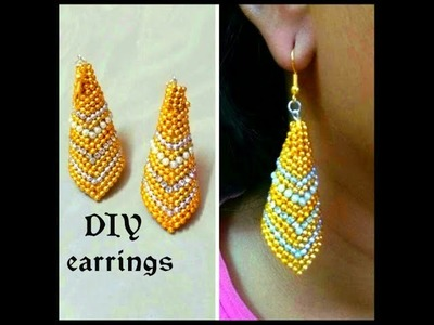 DIY : How to make earring using paper at home | Paper Earrings