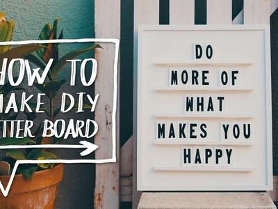 DIY LETTER BOARD | How to Make a DIY Letter + Message Board! ✨Alejandra's Styles
