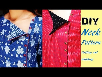 "DIY Neck Pattern For Kurtis And Dresses Trendy Neck Style By PN""Z World"
