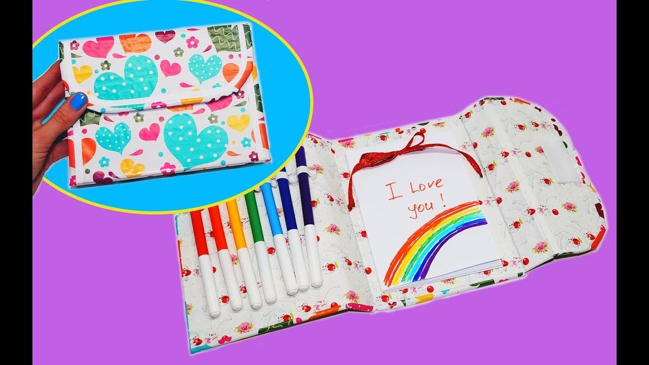 DIY ORGANIZER PLANNER BAG   NOTEPAD + PENCIL CASE   Back to school supplies   Julia DIY