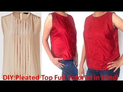 DIY Pleated Top Cutting And Stitching Full Tutorial in hindi