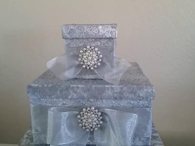 DIY| VICTORIAN STYLE CARD BOX HOLDER. WEDDING 2017