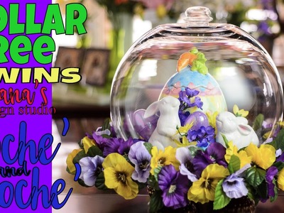 ????????????Dollar Tree:  Bunny in a Cloche' AND a Surprise 2nd Cloche'!!