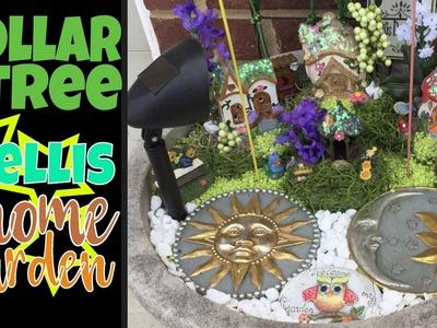 Dollar Tree Trellis Garden Do-it-Yourself: Outdoor Container Garden Gnome Village from Dollar Tree