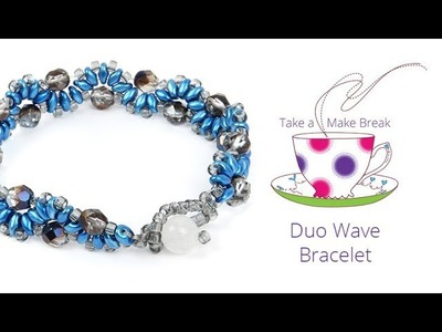 Duo Wave Bracelet | Take a Make Break with Beads Direct