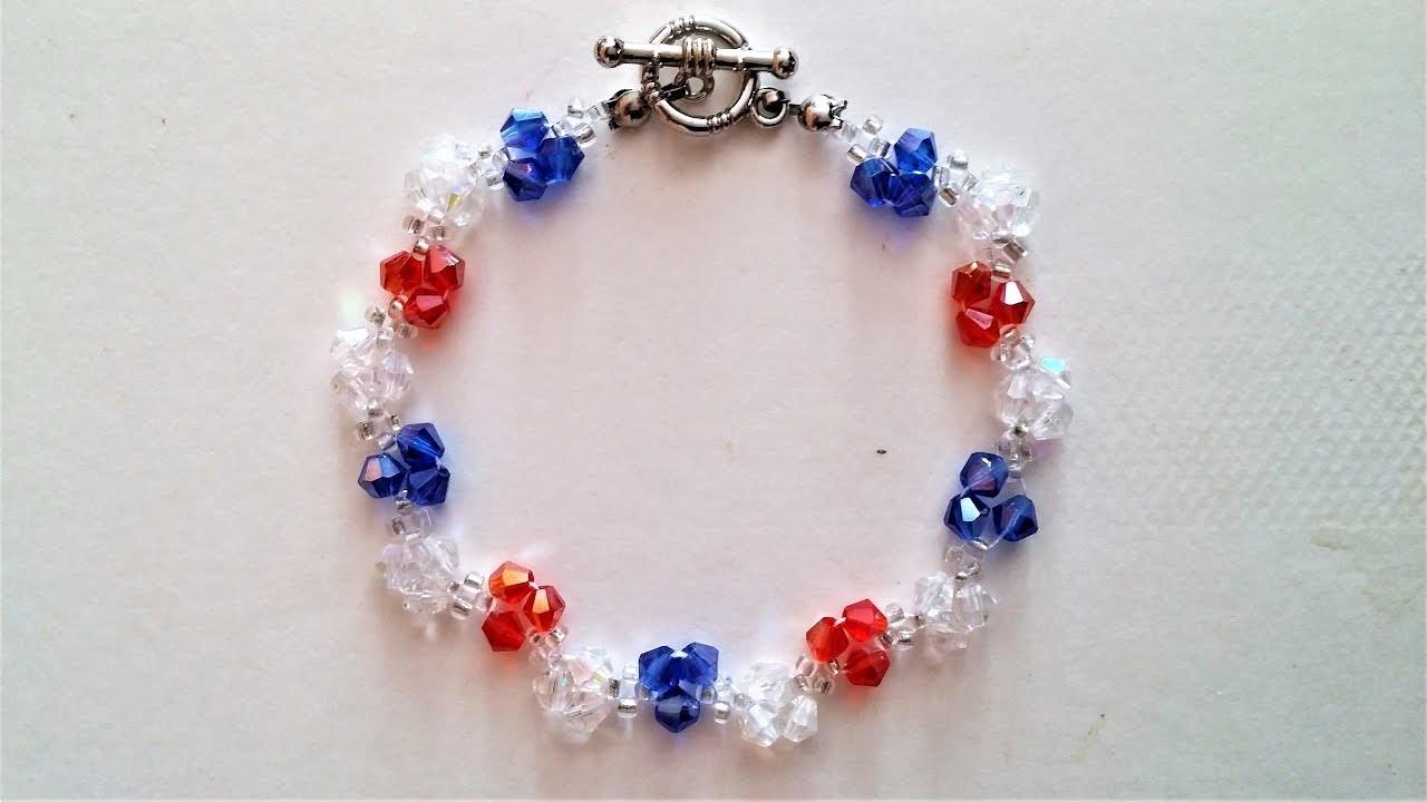 Easy beaded bracelet pattern. Beginners project
